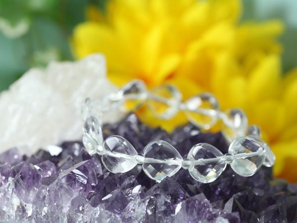 画像1: 水晶×ムーンストーンのブレスレット (1)