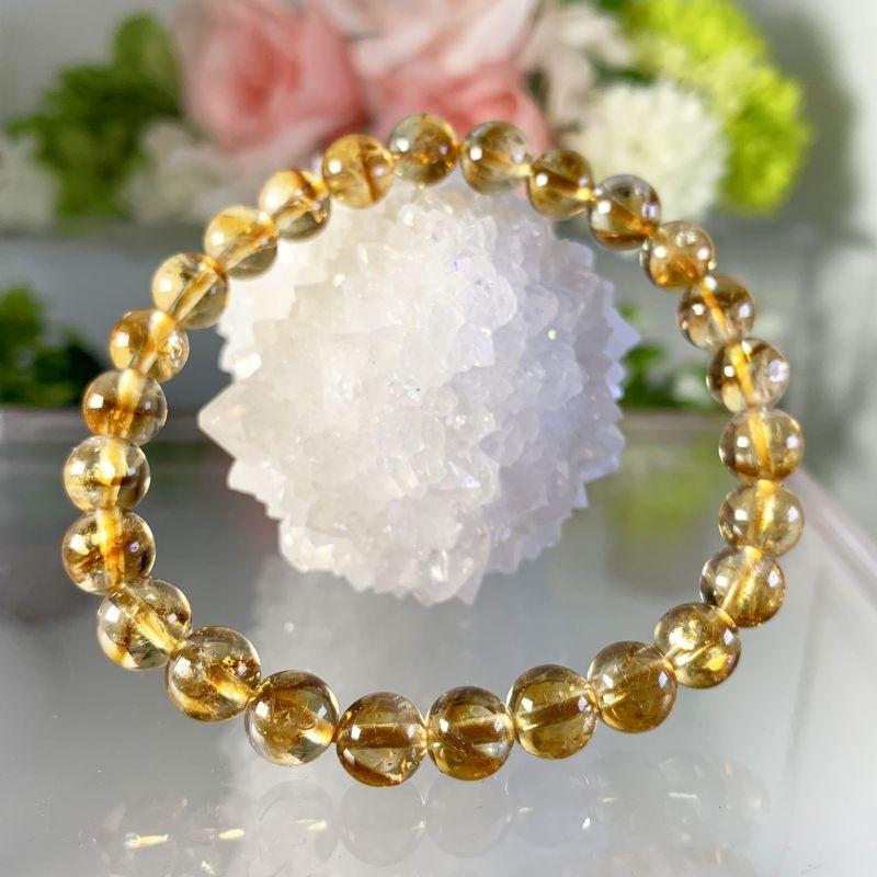 画像1: 美品!透明!ファントム・シトリンクォーツ ブラジル産 ブレスレット 天然石・高品質・一点物 (1)