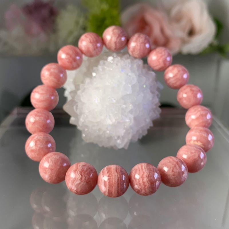 画像1: 桜ピンク!大人気!インカローズ アルゼンチン産 ブレスレット 天然石・高品質・一点物 (1)