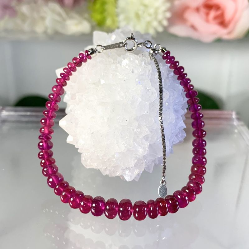 画像1: 透明!可愛らしい濃いレッドピンク!プレミアム宝石質!ルビー 4A+シルバー925 (1)