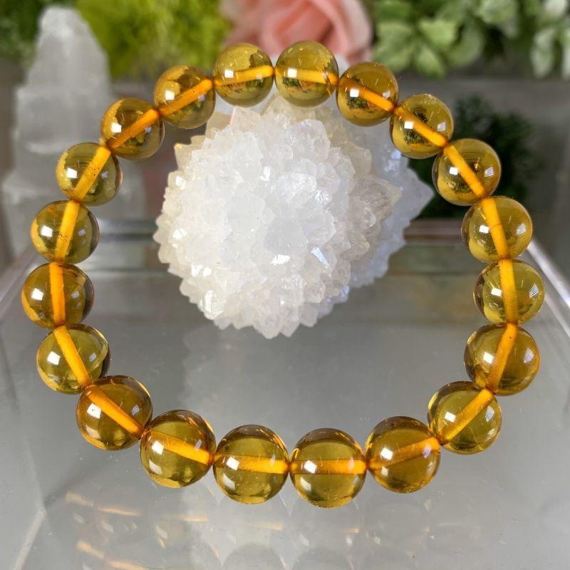 画像1: 極美!透明!アンバー エネルギーの活性化・精神の安定・人間関係・金運 天然石 (1)