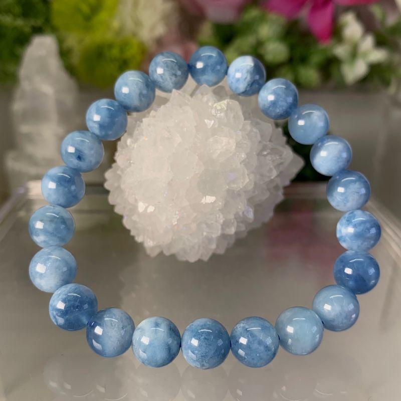 画像1: 深い青!アクアマリン 2A+ 癒し・コミュニケーション力・クリエイティブ 天然石 (1)
