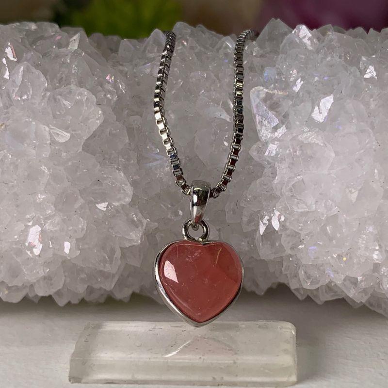 画像1: インカローズ  ハート形 癒し・愛情・トラウマ解消・意識の浄化・情熱 天然石 (1)