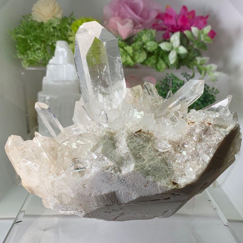 画像1: 希少!ヒマラヤ・マニカラン産水晶クラスター 品質証明書付き 浄化・生命力 天然石 (1)