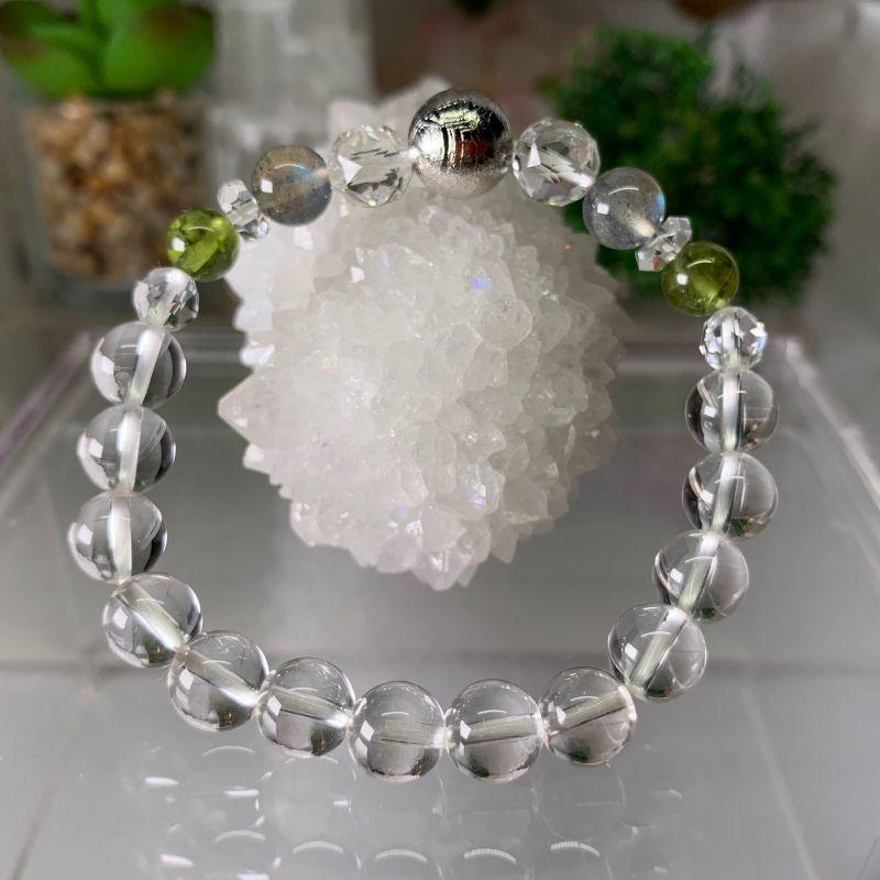 画像1: ギベオン ラブラドライト  ペリドット 水晶 グラウディング・浄化 天然石 (1)