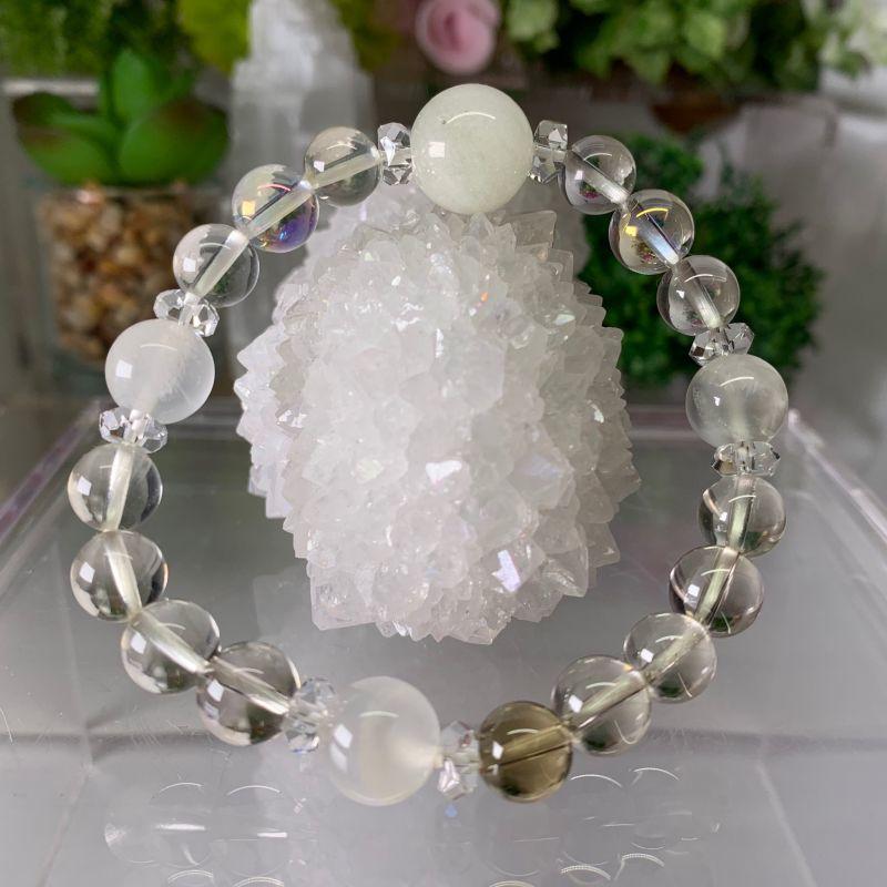 画像1: リビアングラス ムーンストーン  レモンクォーツ  オーロラクォーツ水晶 天然石 (1)