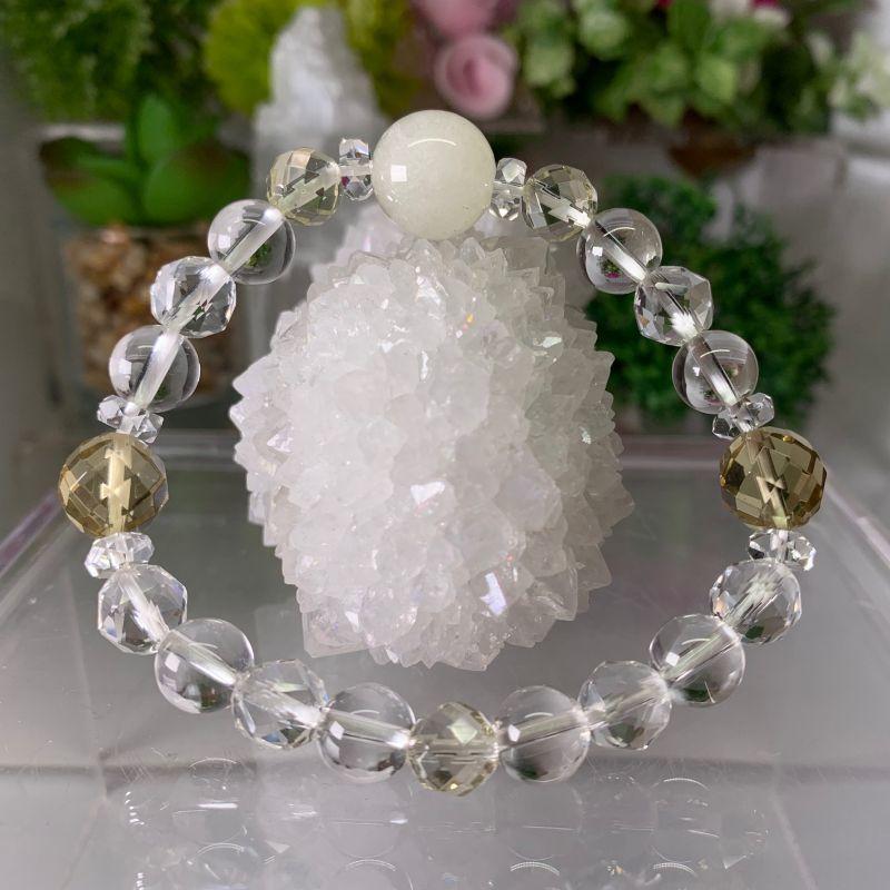 画像1: リビアングラス   レモンクォーツ  水晶 ヒーリング・インスピレーション天然石 (1)