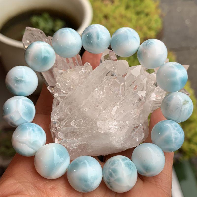 画像1: ラリマー・マリーンブルー 愛と平和の石・調和・ネガティブを取り除く 天然石 (1)