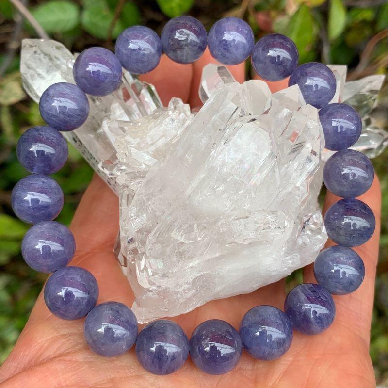 画像1: 美品!タンザナイト 人生を良い方向へ・柔軟性を高める・問題を解決する 天然石 (1)