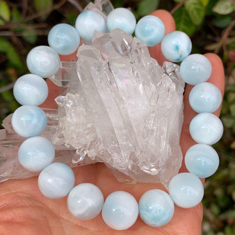 画像1: 淡いマリンブルー! アイス・ラリマー  愛と平和の石・調和と協調性 天然石 (1)