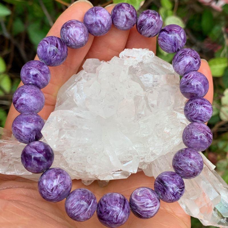 画像1: チャロアイト・高貴な紫 癒し・恐怖・不安の除去・エネルギー浄化・洞察力 天然石 (1)