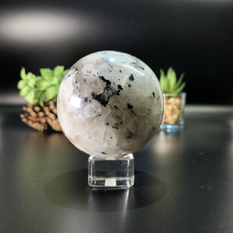 画像1: ムーンストーンペグマタイト 球体(スフィア) インド産 天然石・高品質・一点物 (1)