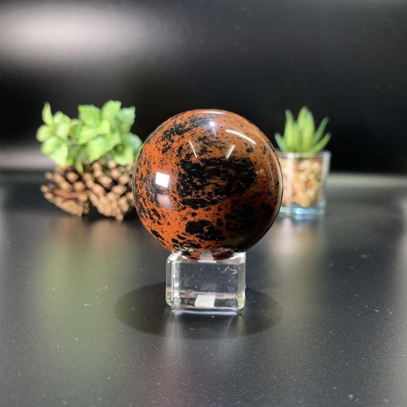 画像1: マホガニー・オブシディアン 球体(スフィア)ネガティブなエネルギーの防御 天然石 (1)