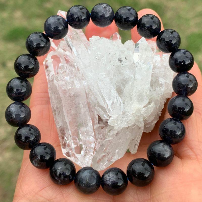 画像1: ブラック・アイオライト 2A+ ビジョンの石・正しい方向へ・感情を鎮める 天然石 (1)