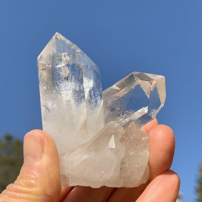 画像1: 天然水晶・クラスター ブラジル産 天然石・高品質・一点物 (1)