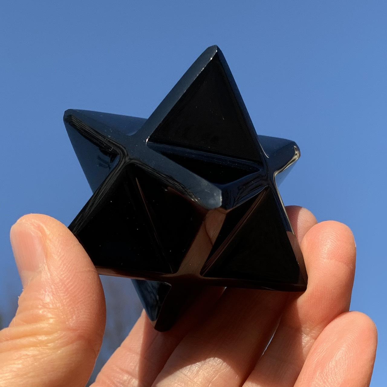 画像1: オブシディアン・マカバスター  メキシコ産 天然石・高品質・一点物 (1)