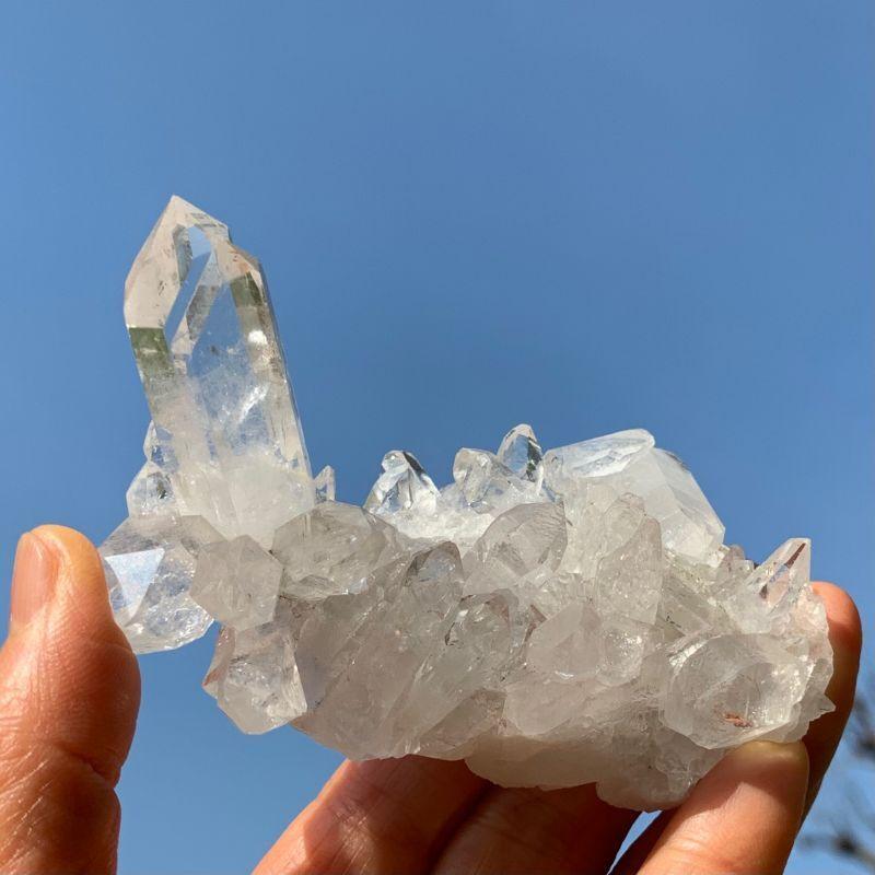 画像1: 超透明!水晶クラスター ブラジル・トマスゴンサガ産 天然石・高品質・一点物 (1)