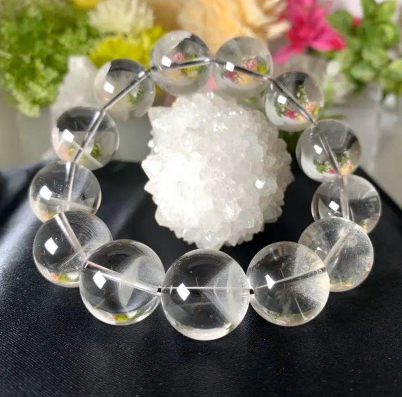 画像1: 激レア!ファントムクォーツ 極上大珠!水晶質透明! ブラジル産 状況を改善する・目標前進・やる気と集中力を高める・困難を克服する勇気 ブレスレット 天然石・高品質・一点物 (1)